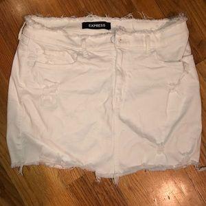 White express mini skirt